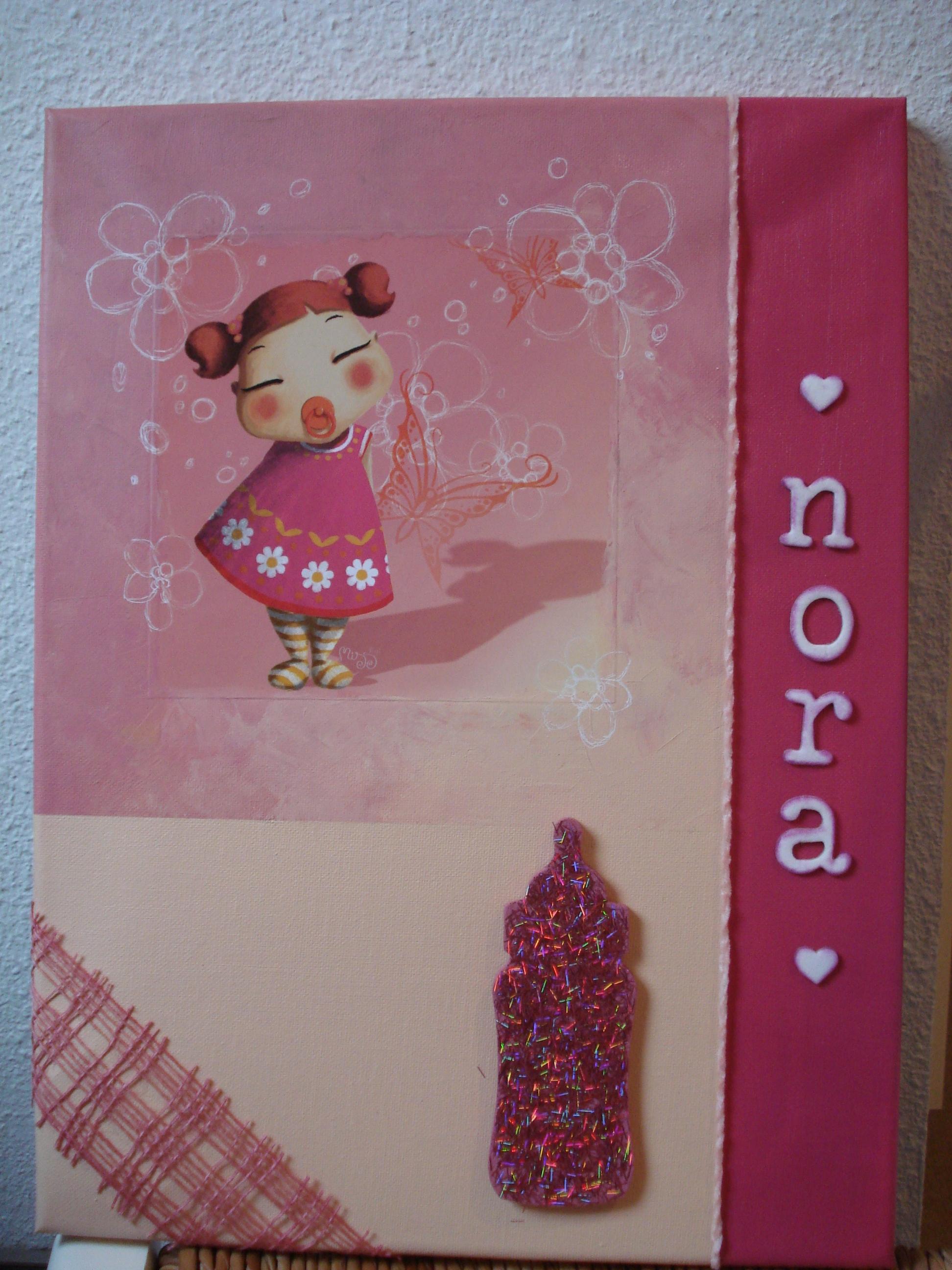 Miloune cr ation archives du blog tableau nora for Tableau pour chambre fille